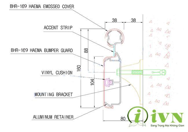 cấu tạo tay vịn hành lang bệnh viện iVN