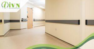 tay vịn hành lang bệnh viện