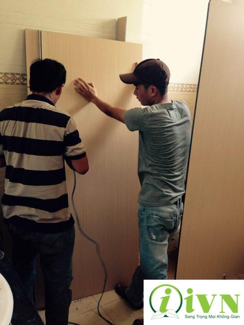 Đội ngũ thi công vách ngăn vệ sinh chuyên nghiệp của iVN