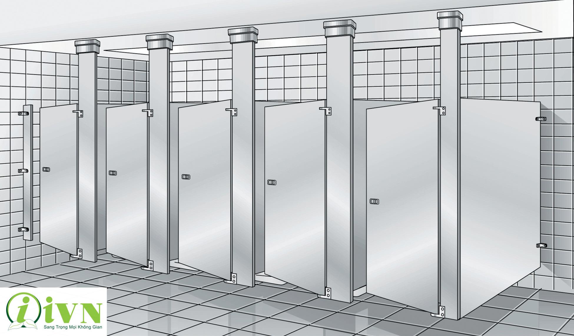bản vẽ công trình vách ngăn vệ sinh