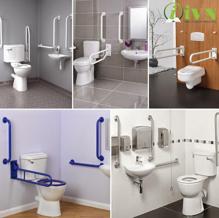 các thiết kế tay vịn nhà vệ sinh