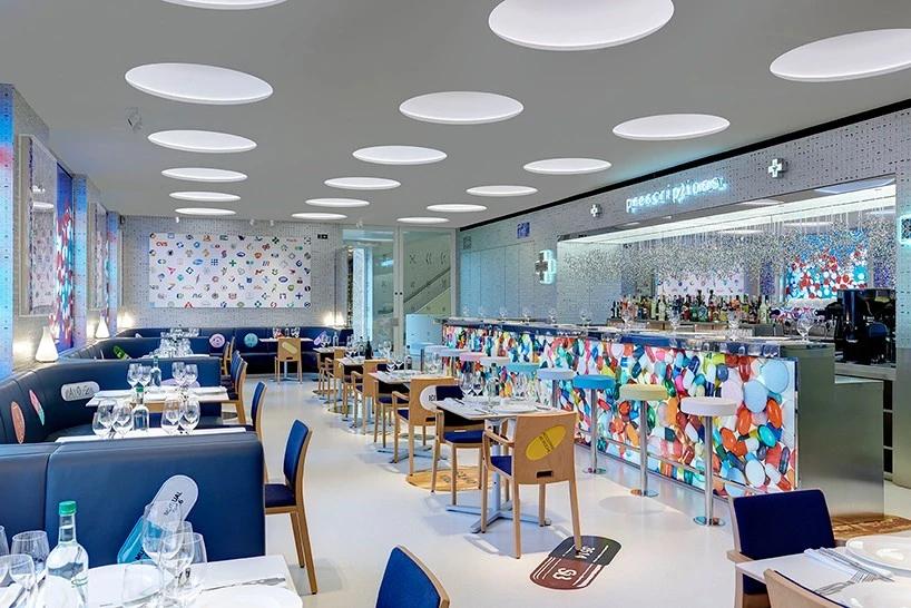 Sử dụng gam màu sáng cho không gian nhà hàng
