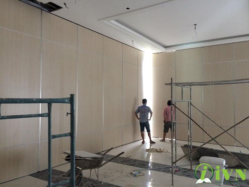 thi công vách ngăn di động melamine tại Lâm Đồng