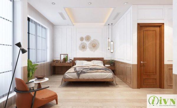 Tấm ốp tường giả đá cho không gian phòng ngủ