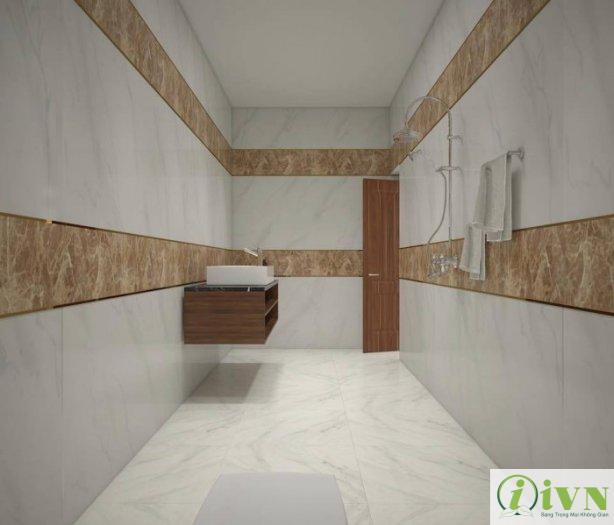 Tấm ốp tường giả đá cho không gian phòng tắm