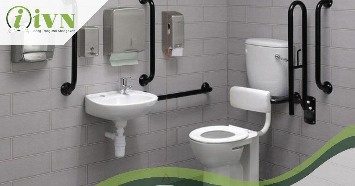 thiết kế tay vịn nhà vệ sinh tiện lợi